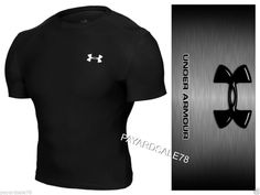 MEN'S XL UNDER ARMOUR COMPRESSION TIGHT FIT T-SHIRT BLACK SHORT SLEEVE LAYER #UnderArmour #COMPRESSION