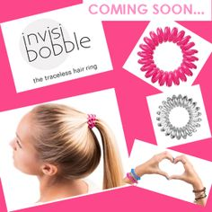 Coming Soon to our Tyrers Hair Studio: Invisibobble! Visit our website to learn more! Hair Rings, Hair Studio, Product Launch, Website, Shopping