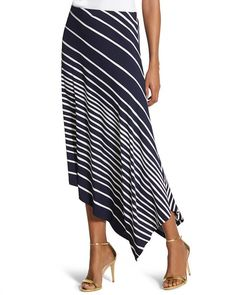Chico's Knit Kit Striped Midi Skirt - Chico's Knit Kit Striped Midi Skirt The Effective Pictures We Offer You About outfits oficina A - Dance Outfits, Skirt Outfits, Knit Skirt, Midi Skirt, Ruffle Skirt, Dress Skirt, Straight Line Designs, Calf Length Skirts, Knitting Kits