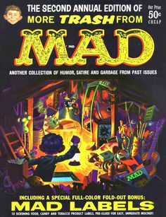 Comic Book Covers, Comic Books, Alfred E Neuman, Mad Magazine, Magazine Covers, Jack Davis, Ec Comics, Mad World, You Mad