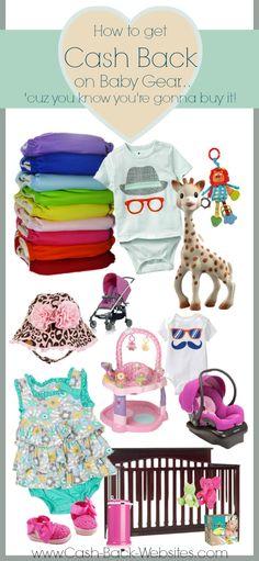 Get Cash Back on all kinds of Baby Gear when you shop online through http://www.ebates.com/rf.do?referrerid=UTrm/47Yrch7nI9BB/k0dA==&eeid=26471