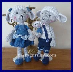 pattern amigurumi mouton