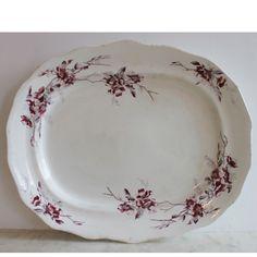 Large Antique Ironstone Transfer Platter