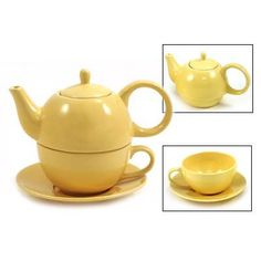 Tea for One Yellow Gloss Finish - English Tea Store Brand