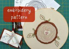custom family tree embroidery pattern. $6.00, via Etsy.