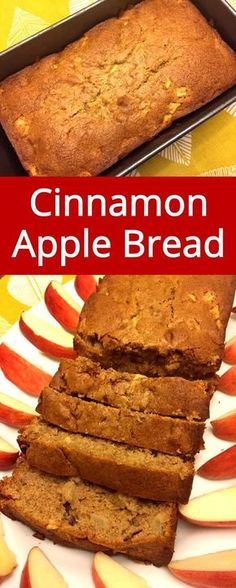 Cinnamon Apple Bread is my fave! So easy and delicious, and smells so good! Perfect bread recipe for Fall and Thanksgiving! Quick Bread Recipes, Apple Recipes, Baking Recipes, Dessert Recipes, Easy Bread, Apple Bread Recipe Healthy, Fast Recipes, Dinner Recipes, Fruit Bread