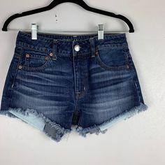 Blue Jean Shorts, Denim Shorts, American Eagle Jeans, Vintage Denim, Laser Engraving, Laundry, Zara, Trends, Outfits