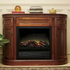 Fire place for corner