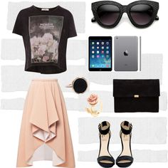 """""""High Low"""" by zerouv on Polyvore: INDIE TRENDY WOMENS BLOCK CUT OVERSIZE CAT EYE SUNGLASSES 9160"""