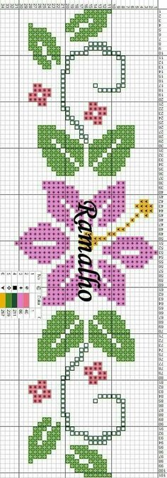 Flower Bookmark Cross Stitch Idea