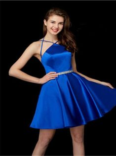 1a1158b56c Angela and Alison 72015 Short Satin Homecoming Dress  French Novelty