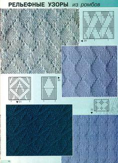Knit Texture Stitch Pattern: Knit and Purl Knitting Stiches, Knitting Charts, Lace Knitting, Knitting Patterns Free, Free Pattern, Crochet Motifs, Crochet Stitches Patterns, Stitch Patterns, Doilies Crochet