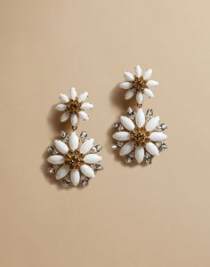 DAISY DROP EARRINGS WITH CRYSTALS - Earrings - Dolce&Gabbana - Summer 2016