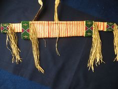 Beaded and quilled bowcase and quiver by Jaroslav Karlicek and Xenie Rajnochova of the Czech Republic