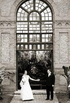 A Asheville wedding photo taken at The Biltmore Estate