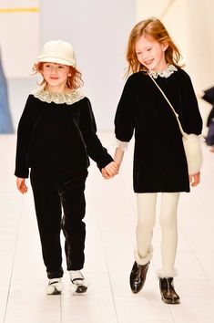 See all of the pieces in the Bonpoint Collection Kids Fashion Show, Girl Fashion, Kids C, Baby Kids, Madame, Beautiful Babies, Fall Winter, Hipster, Velvet