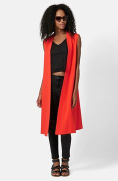 Topshop Sleeveless Crepe Duster available at #Nordstrom