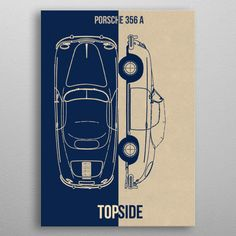 """Beautiful """"Porsche 356 a"""" metal poster created by DESIGN. Our Displate metal prints will make your walls awesome. My Plate, Porsche 356, Good Company, Posters, Cars, Metal, Prints, Design, Automobile"""