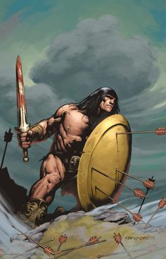 Conan - line art: Cary Nord, color: Dave Stewart Conan Comics, Bd Comics, Red Sonja, Ghost Rider, Character Design References, Character Art, Comic Books Art, Comic Art, Conan Der Barbar