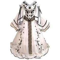 Tumblr ❤ liked on Polyvore featuring dresses, gowns, long dresses, costumes and medieval dress