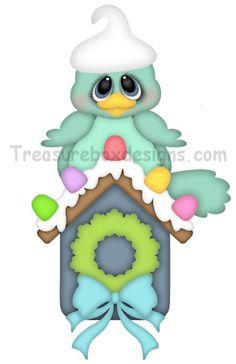 Holiday Tweet - Treasure Box Designs Patterns & Cutting Files (SVG,WPC,GSD,DXF,AI,JPEG)
