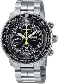 Seiko - SNA411P1 - Montre Homme - Quartz Chronographe - Cadran Noir - Bracelet Acier Gris, http://www.amazon.fr/dp/B00068TJM6/ref=cm_sw_r_pi_awdl_6k.mvb1HXV5PE