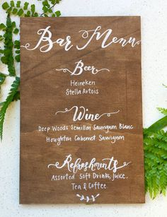 Our ready made range of signage allows all brides to have a little Chalk and Co lovely-ness on their Wedding Day. Our gorgeous hand crafted calligraphy sign is available in Walnut with white grosgrain ribbon. ♥ What youll get: ___________________________________________________________   Our boards are stained, sealed and prepped with the highest quality materials. We use natural ply to create a both rustic yet modern finish. This board is 300mmx200mm and features Walnut Stain with white…