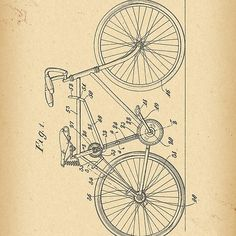 1918 Patent Velocipede Bicycle history  invention