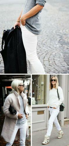 Vestir branco no Inverno/ White for Winter