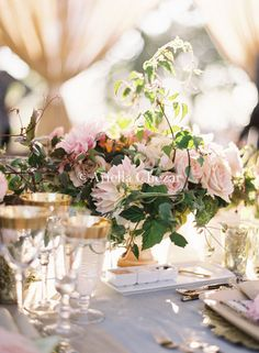centerpiece inspiration for colors / style
