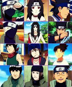 Then & now  -kakashi, kurenai, asuma, gai, genma, iruka