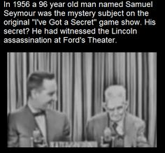 Fun Facts: Man in 1956 reveals he witnessed Abraham Lincoln's assassination when he was five years old