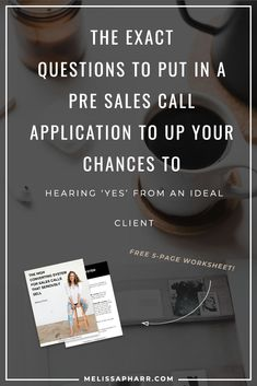 Here are the exact questions to put in your discovery call to increase your chances from hearing a YES from an idea client. Click through for a FREE worksheet as well to help get more clients today. Business Entrepreneur, Business Tips, Online Business, Business Coaching, Sales And Marketing, Online Marketing, Affiliate Marketing, Call System, Welcome Packet