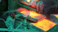 A worker monitors a process inside the copper refinery plant of Codelco Ventanas in Las Ventanas, Ch... - Rodrigo Garrido/Reuters