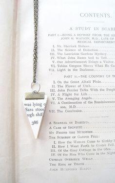 Vintage Paper Bunting Necklace Pg 386  by VintageOoakDesigns, $18.00