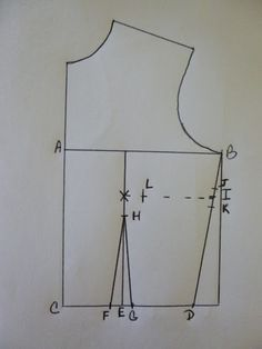Now that we've drafted the basic bodice, we can now start adding the darts. The darts will give the bodice the shape and fit that we are loo...
