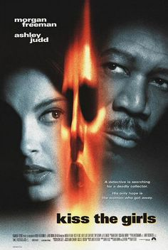 """""""Kiss the Girls"""" is a psychological thriller novel by James Patterson, the second to star his recurring main character Alex Cross, an African-American psychologist and policeman played by Morgan Freeman. I really like Ashley Judd in this. 90s Movies, Great Movies, Horror Movies, Movies To Watch, Movies 2019, Ashley Judd, Tony Goldwyn, James Patterson, Detective"""
