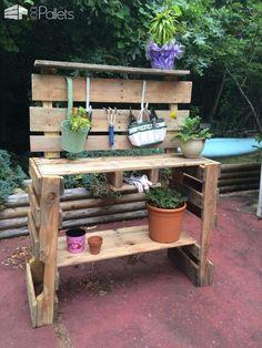 Pallet Potting Table Pallet Desks & Pallet Tables Pallet Planters & Compost Bins
