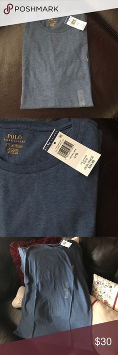 Ralph Lauren t shirt size L new with tag Polo Ralph Lauren Mens Classic Fit Solid Crewneck T-Shirt (Large Royal Blue), k1  HIGH QUALITY COTTON - A must-have, high quality cotton jersey tee that will last for years. STANDARD, CLASSIC FIT - You will never go wrong with a classic. This bestselling standard casual t-shirt is accented with our signature embroidered pony at the left chest and also comes with a tagless neck label  SHORT SLEEVES CREW-NECKLINE  100% Cotton; Ribbed collar, arm bands…