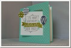 The Craft Spa - Stampin' Up! UK independent demonstrator : Balloon Bash Pop Out Swing Card Fancy Fold Cards, Folded Cards, Spa Images, Pop Out Cards, Swing Card, Up Balloons, Paper Crafts, Diy Crafts, Homemade Gifts
