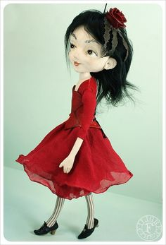 Scarlet Rose Wallflower Doll by the Filigree | Flickr - Photo Sharing!