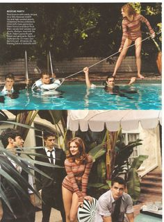 Marc Jacobs knit sweater and shorts - Max Irons, Ethan Peck, Dave Franco, and Natalia Vodianova