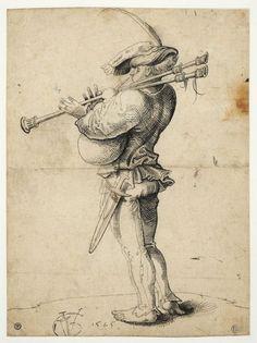 Graf, Urs (Ursus) (der Ältere, I. Renaissance Music, Medieval Music, Medieval Art, Albrecht Durer, Motif Music, Drawing Sketches, Art Drawings, Scottish Bagpipes, Love Is Comic