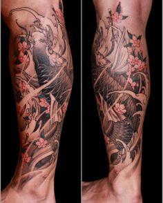 Asian dragon tattoo forearm Most Popular Ideas Koi Dragon Tattoo, Dragon Tattoo Forearm, Carp Tattoo, Koi Fish Tattoo, Dragon Tattoo Designs, Forearm Tattoos, Tattoo Ink, Best Leg Tattoos, Trendy Tattoos