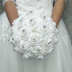 Category:Bouquets; Height:9.84(Approx.25cm); Occasion:Wedding; Material:Foam,Polyester; Length:9.84(Approx.25cm); Listing Date:09/18/2017; Base Categories:Wedding Bouquets,Bridal Accessories,Clothing Accessories,Apparel  Accessories; Special selected products:COD Bridal Brooch Bouquet, White Wedding Bouquets, Blush Pink Weddings, Flower Bouquet Wedding, Bride Bouquets, Rose Bouquet, Bling Wedding, Wedding Bride, Cheap Wedding Flowers