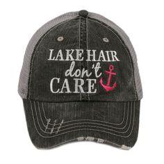 Lake Hair Don t Care Trucker Hat 95750e29dcc