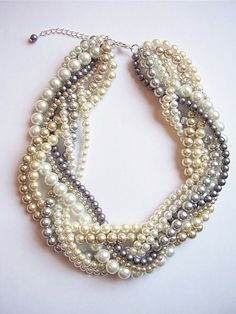 Custom order necklaces braided twisted chunky by WildStoneJewels, $37.50