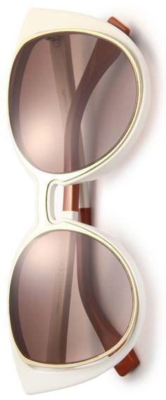 Fendi Cat's-Eye 51MM Sunglasses White