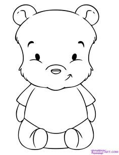 Baby Pooh coloring page :)