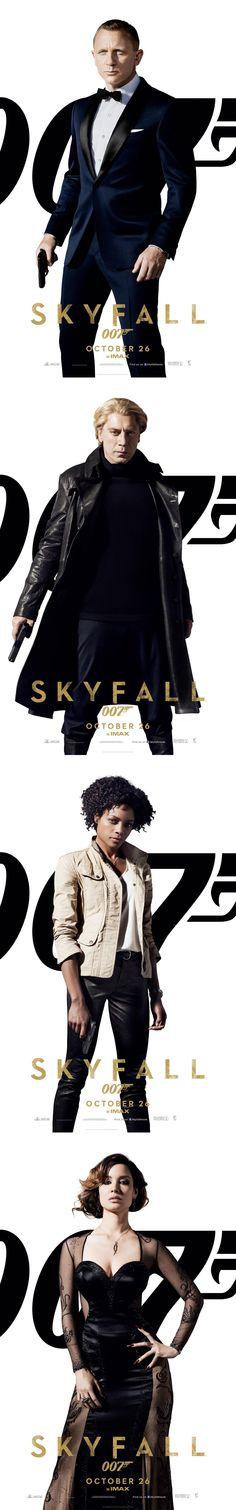 Posters de personajes de SKYFALL